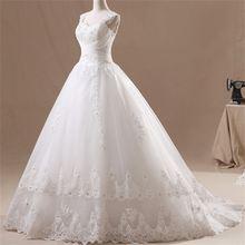2017 новые Гламурные свадебные платья модные аппликации Формальные