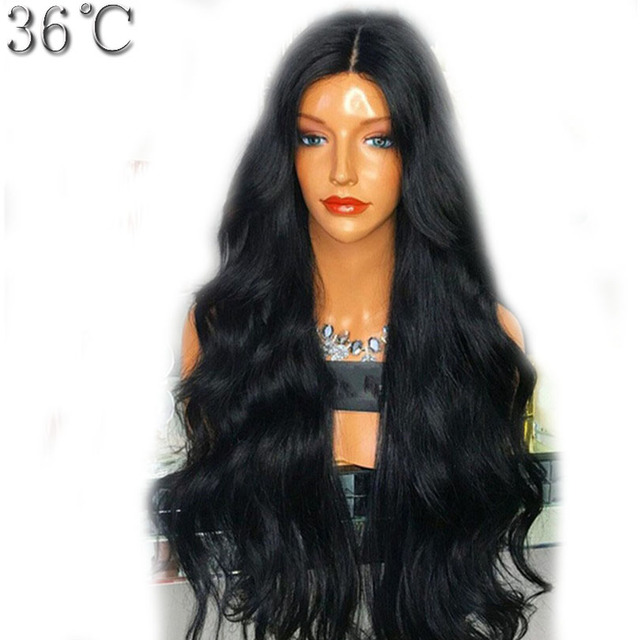 36C Lace Front Human Hair Wigs Pre Plucked Natural Hairline Wavy Brazilian Remy Hair Wig Middle Part 130% Density With Baby Hair