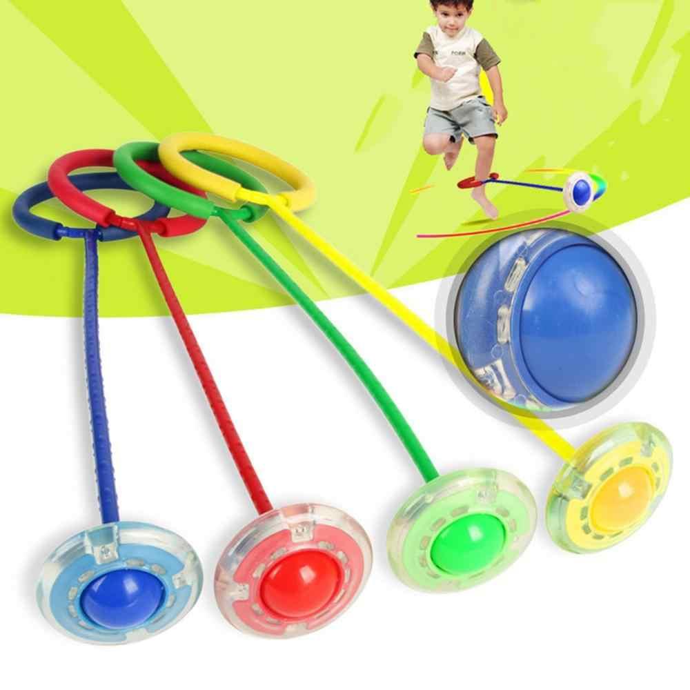 Flash Kids Jump Ball Outdoor Sports Foot Skip pierścień do ćwiczeń skaczący koło piłka dziecko Fitness zabawka prezent interaktywne gry