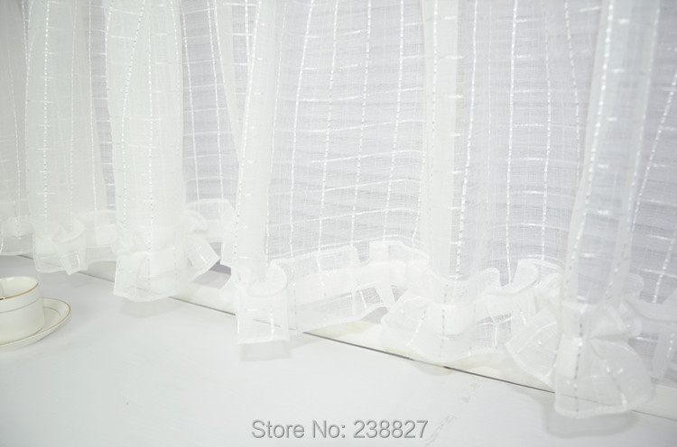 Nieuwe witte korte gordijn keuken vitrages tule venster kleine