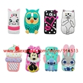 Owl Cat Lips Stitch Minnie Hello Kitty Cupcakes Panda Batman Pig 3D Case Cover For Samsung Galaxy S3 S4 S5 S6 S7 Edge Plus