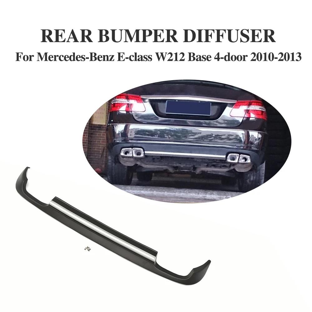Rear Bumper Lip Diffuser Bodykit PU Fit For Mercedes Benz W212 Non-AMG 10-13