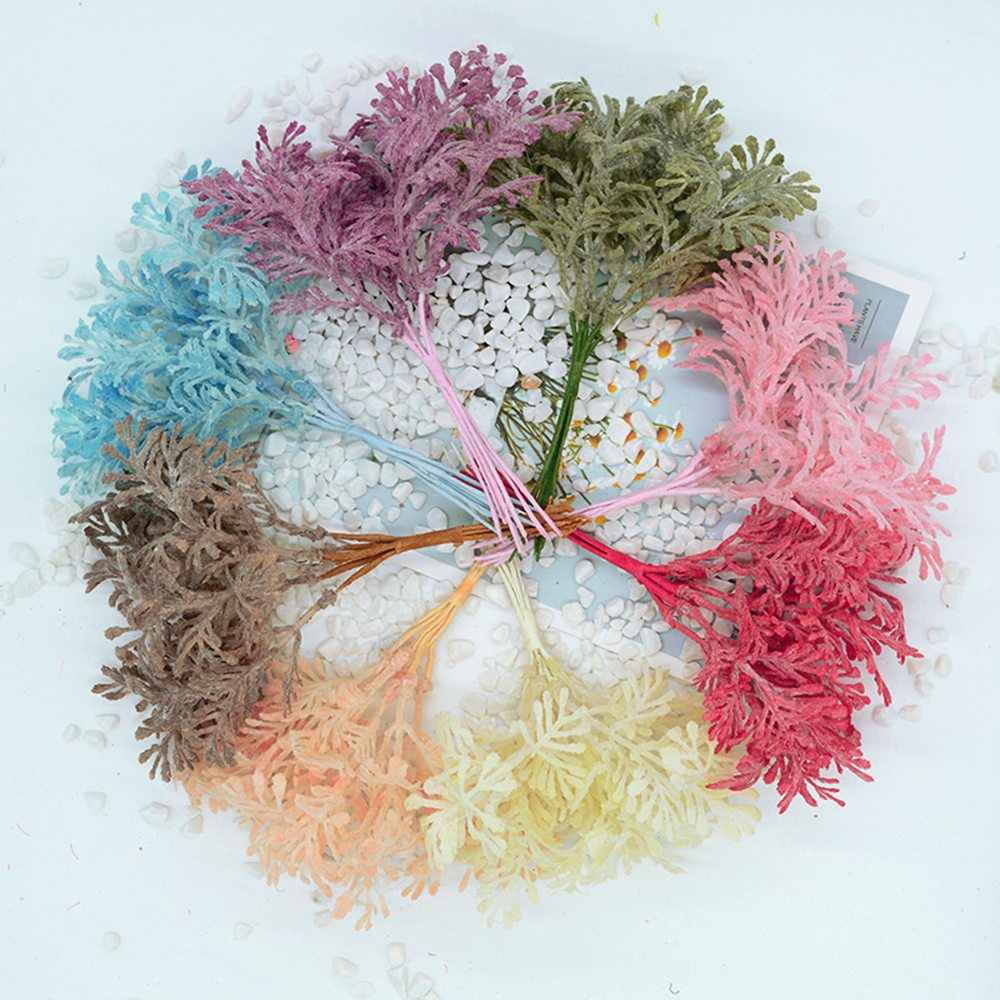 6pcs/lot artificial plants for wedding home decoration accessories  scrapbooking diy wreath silk flowers ornamental flowerpot