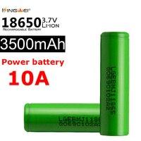 4 шт. Высокая мощность 100% оригинал 18650 батарея для LG MJ1 3500mAh 3,7 v 10A перезаряжаемые литиевые батареи