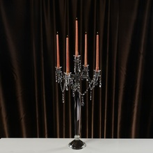 Romantic Transparent Demountable Crystal Candelabra Wedding Table Centerpieces Candle Holders For Home Decorations