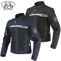 2018 New Brand Breathable Motorcycle Jacket Mens Denim Clothing Racing Moto Motocross Jeans Pants and Jackets CE Protectors Gear