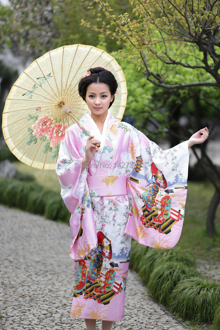 New Charming Traditional Japanese kimono Uchikake Bathrobe ...
