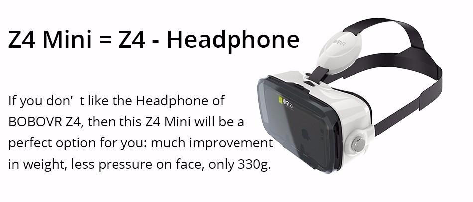 Original BOBOVR Z4 mini 3D VR glasses virtual reality google Cardboard Helmet Headset Stereo BOBO VR BOX for 4-6'' Mobile Phone 12