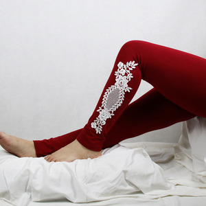 Image 3 - XS 7XL Leggings Women Cotton Lace Decoration Leggings 2020 Leggins Plus Size Long Leggings Size 7XL 4XL 3XL XXL XL L M S 6XL 5XL
