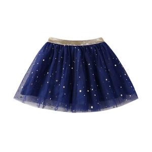 Юбка для маленьких девочек, детская одежда, джинсовая юбка принцессы, вечерние юбки-пачки со звездами и блестками для танцев, 19May24