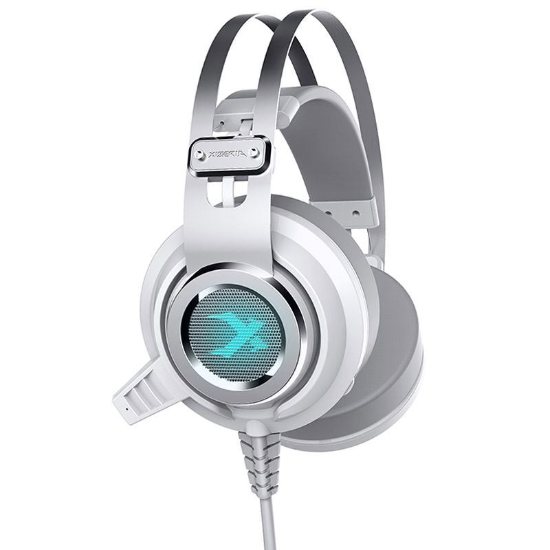 XIBERIA V2 7.1 Surround Sound Wired Gaming Headphones Glowing LED Deep Bass Stereo Headsets With Microphone Mic USB Vibration ovleng q8 usb wired stereo headphones w microphone white red black