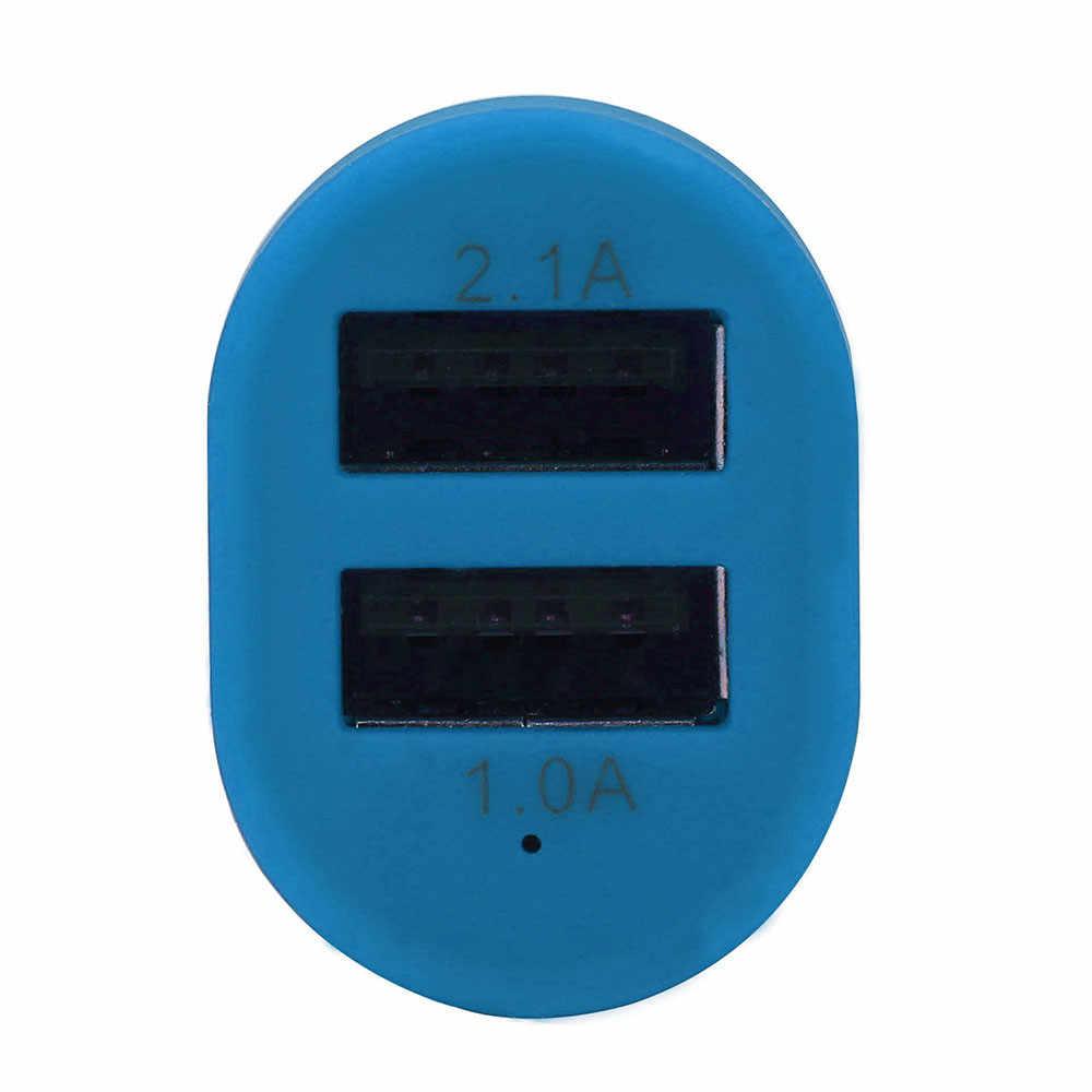 Cargador de coche de 2 puertos adaptador de corriente del divisor del enchufe del encendedor para el cargador del Iphone para el Xiaomi para el cargador de Huawei QC3.0 # T10