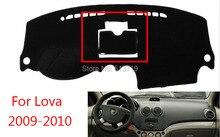 Car dashboard Evite cojín ligero Instrumento cubierta del escritorio de la plataforma Esteras Alfombras de Auto Para Chevrolet Lova 2009-2014