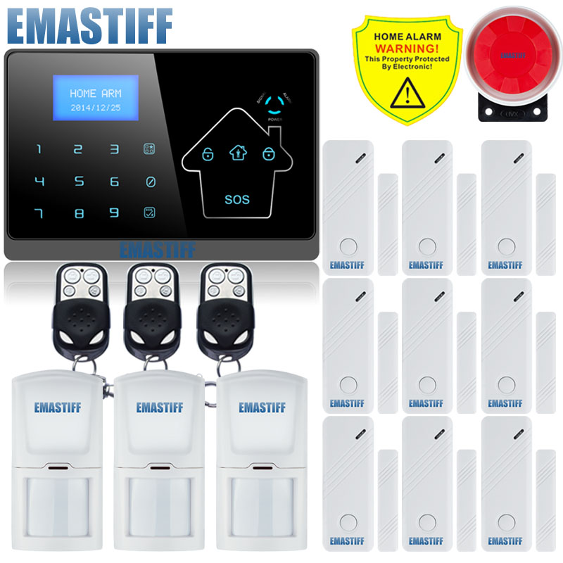 Home Guard LCD Smart Touch Keypad Menu Wireless wired GSM PSTN Quad4 Band SMS Home Security Voice Burglar Alarm System Auto Dial