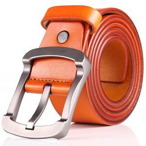 Image 4 - FAJARINA Kwaliteit Koeienhuid Dames Koeienhuid Leather Match Retro Eenvoudige Sluiting Stijl Riemen voor Mannen Mode Stijlen Jeans N17FJ501