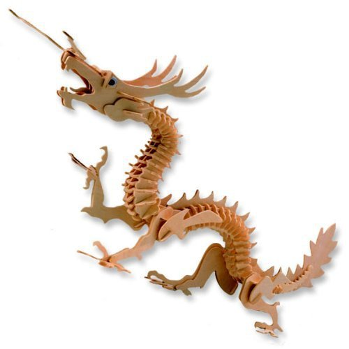 3d Wooden Puzzle Dragon Wood Craft Construction DIY Toys