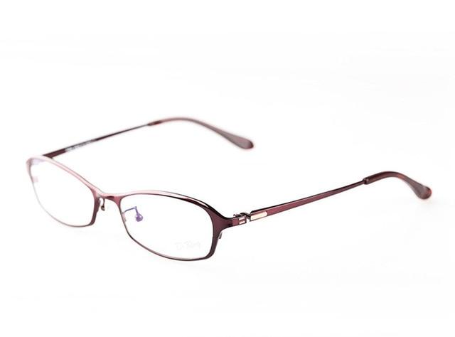 Женщины урожай классический Полный рим чистого титана оптический рецепту ясно стеклянный глаз очки кадр для женщин