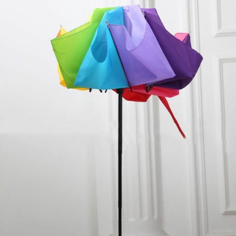 C3CD Fashion Rainbow Fold Umbrella Water Sun Proof Three Folding Adults Umbrella