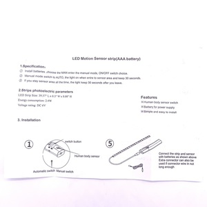 Image 4 - Беспроводной ночник с датчиком движения, 1 м, 2 м, 3 м, с питанием от аккумулятора, под кроватью, для шкафа, шкафа, для лестниц коридора