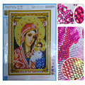 New Year Gift DIY 5D Diamond Embroidery Religion Icons Crystal Round Diamond Painting Religious Portrait Cross Stitch Needlework