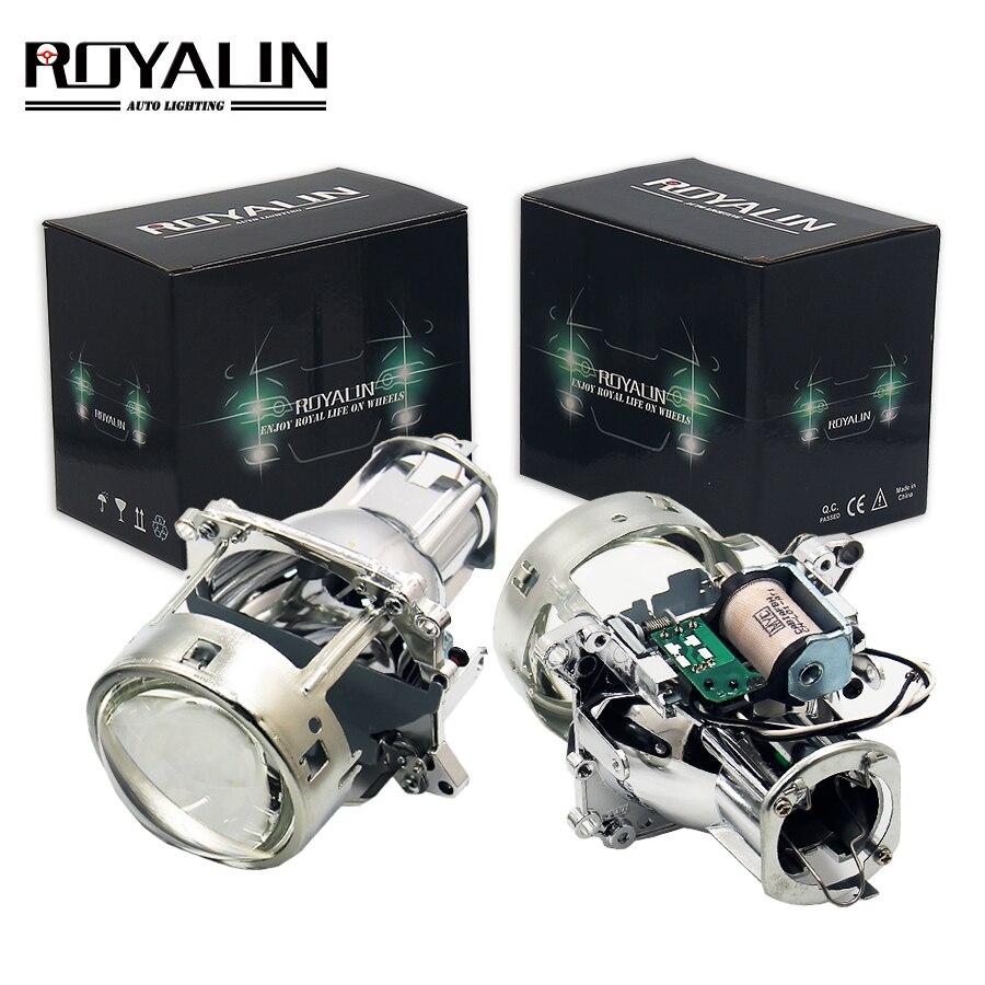 ROYALIN AL Bi Xenon Projector Headlights Lens H7 For BMW E46 E39 E60 X5 E70 Audi