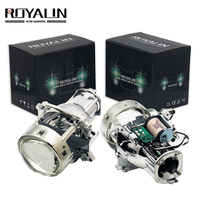 ROYALIN AL Bi Xenon Projector Headlights Lens H7 For BMW E46 E39 E60 X5 E70 Audi A3 A4 Mercedes W203 W204 Golf