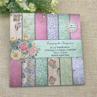 24 sheets 6X6 spring Flower blossoms patterned paper Scrapbooking paper pack handmade craft paper craft Background pad