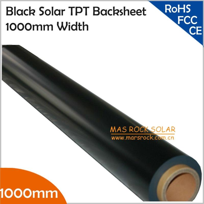 10Meter/Lot Wholesale Black Solar Back Sheet, 1000mm Width Solar TPT Backsheet  for Encapsulation Solar Panel, TUV Certificate 550mm 20m diy solar panel eva film sheet for pv cells encapsulation