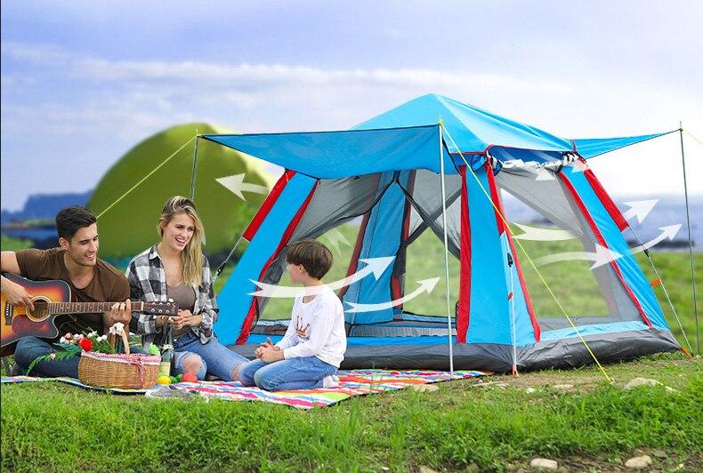 Barraca de Camping familiar 4-6 Pessoa Tendas