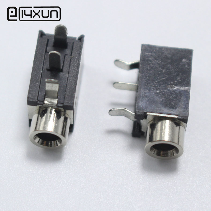 10Pcs 3.5mm Female Audio Connector 3Pin DIP Headphone Jack Socket  PJ-376M