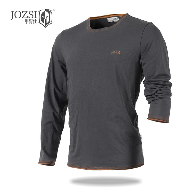 2019 New JOZSI Brand Outdoor Spring Autumn Long Sleeve Men Clothing 100% COTTON Quick Dry Breathable O neck Coolmax T Shirts