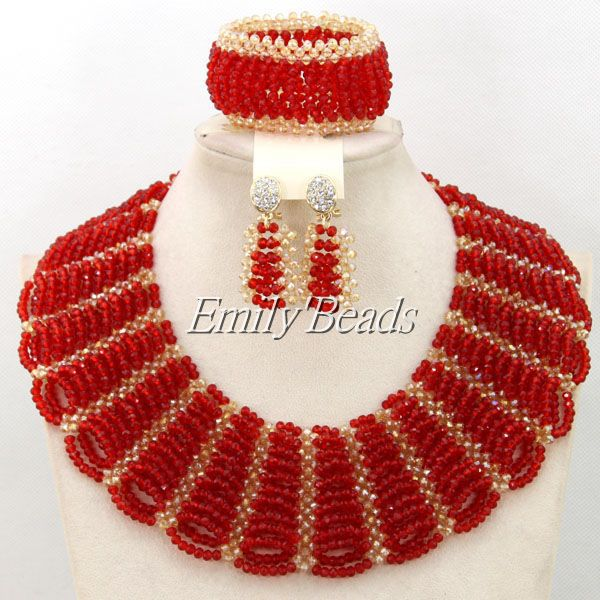 2016 Fashionable Nigerian Wedding African Beads Jewelry Sets Costume Indian Bridal Necklace Jewelry Set Free Shipping & 2016 Fashionable Nigerian Wedding African Beads Jewelry Sets Costume ...