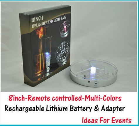Alert Wedding Centerpiece Light Base 1pc Rechargeable Battery+remote Controller Charger Adapter 8inch Spot Led Light Base Lights & Lighting