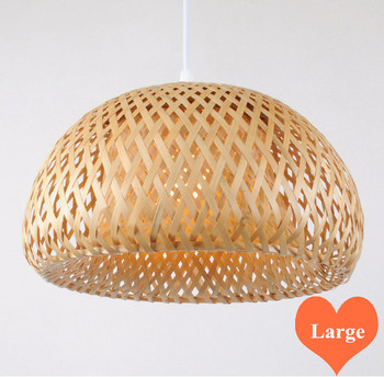 Chinese rustic handwoven bamboo Pendant Lights Southeast Asia style brief E27 LED large lamp for porch&parlor&stairs LHDD003