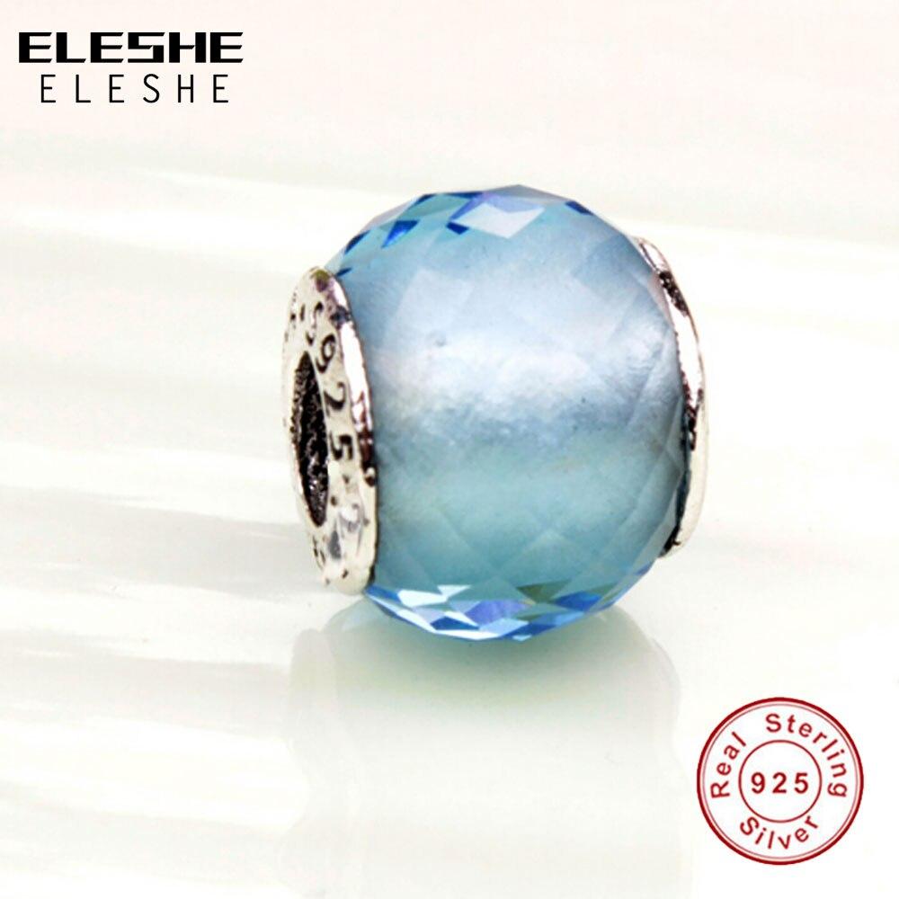 Prix pour Avec 925 LOGO 100% 925 Sterling Argent Bleu Charmes Fit Original Pandora Bracelet Collier Pendentif Authentique Bijoux Accessoires