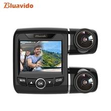 Bluavido Double Camera 1080P Car DVR IMX323 Sensor WDR Night Vision Novatek 96663 AUTO Video Recorder 150 Degree angle Dash Cam цена в Москве и Питере