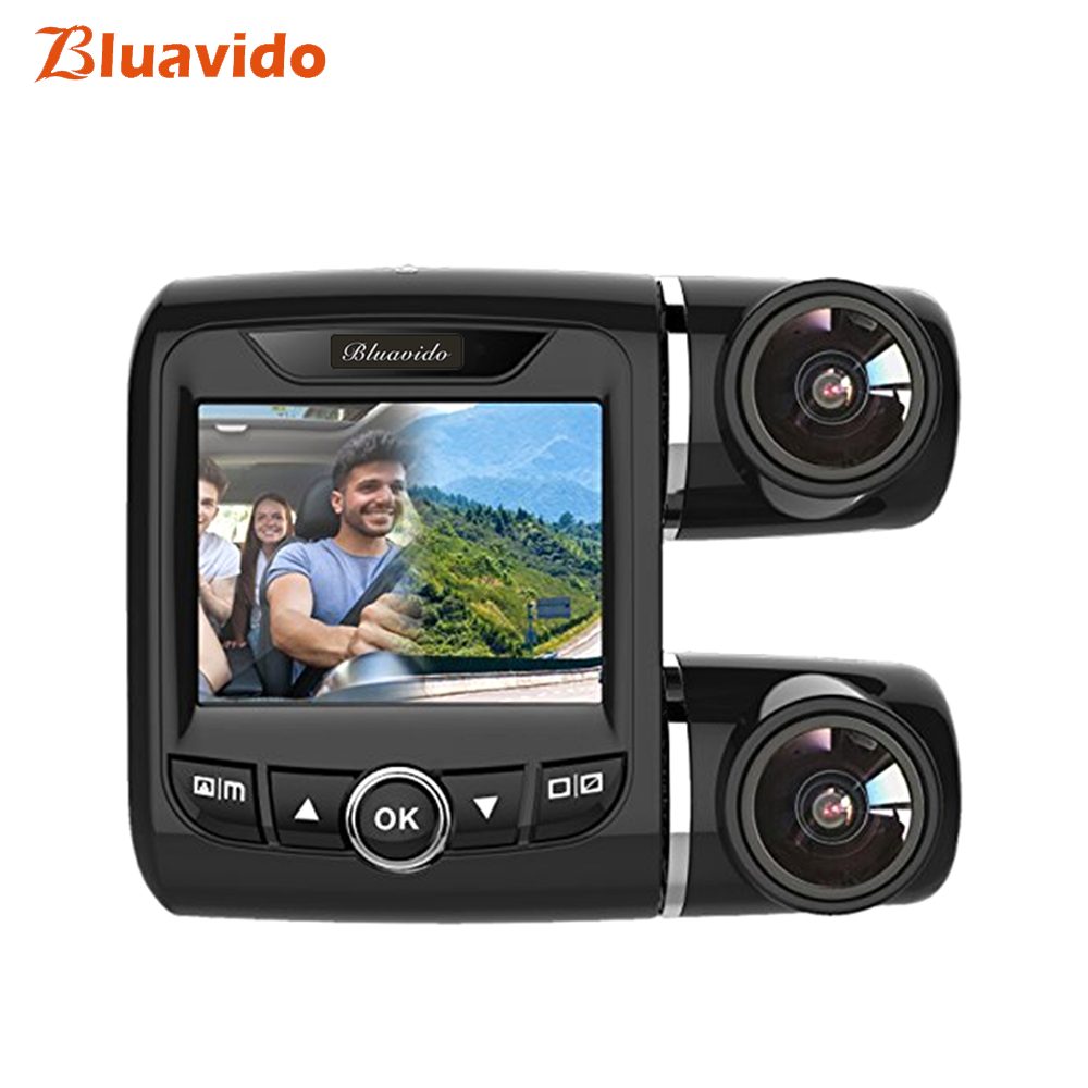 Bluavido Double font b Camera b font 1080P Car DVR IMX323 Sensor WDR Night Vision Novatek