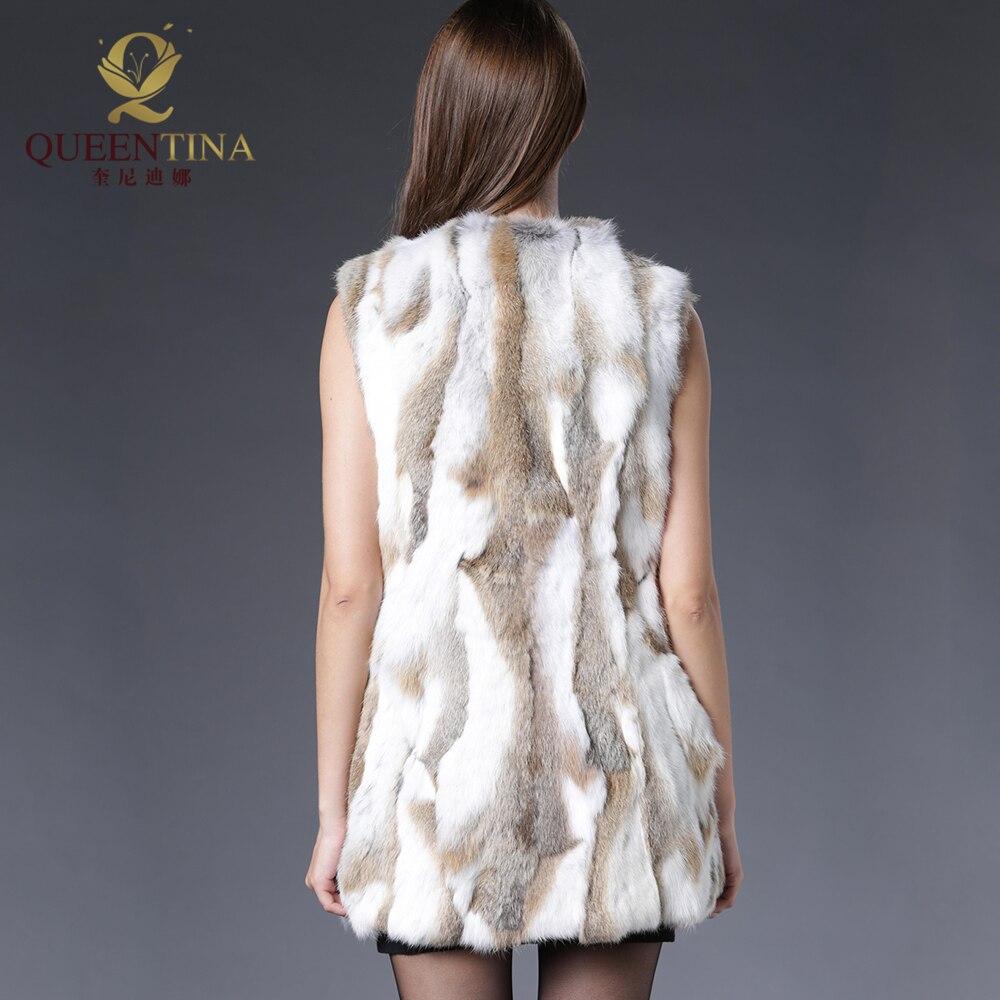 Sexy Fur Vest Women Rabbit Fur Vest Իրական մորթյա - Կանացի հագուստ - Լուսանկար 2