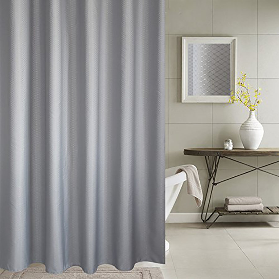 UFRIDAY Shower Curtain Waffle Weave Pattern Durable Charcoal Fabric Bathroom Waterproof Mildew Resistant Bath