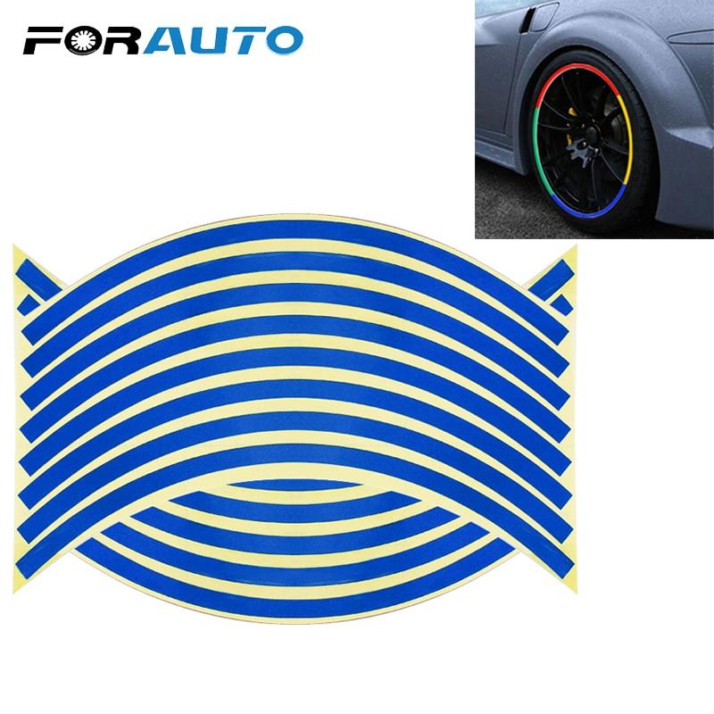 Tire Stickers Car Tyre Rim Stickers Car-covers Wheel Sticker Tape Auto Decors 16