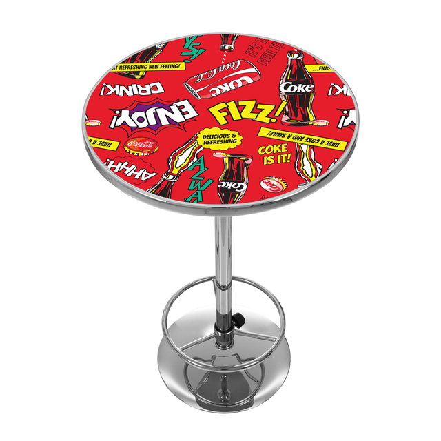 Coca Cola Chrome 42 Inch Pub Table   Pop Art
