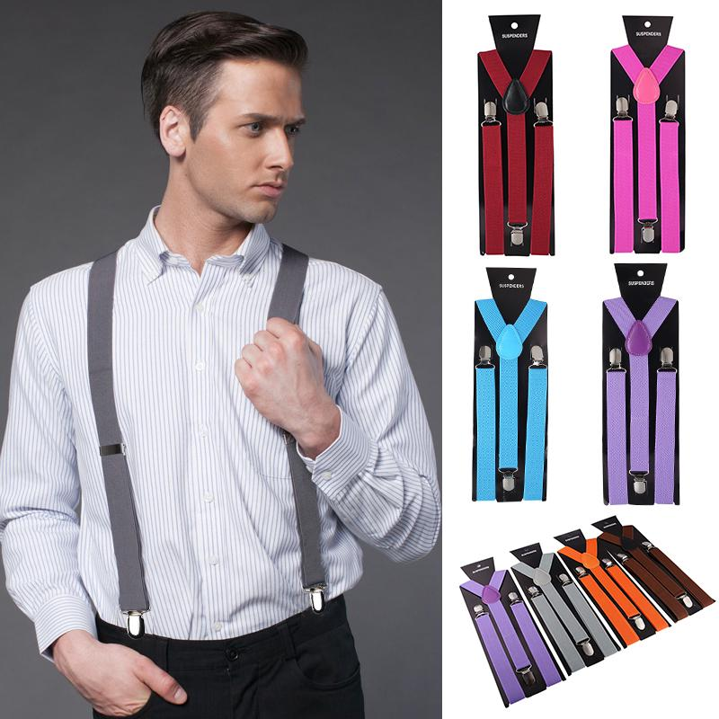 Taylor Unisex Women Men Suspender Elastic Adjustable Braces Y-Shape Clip On