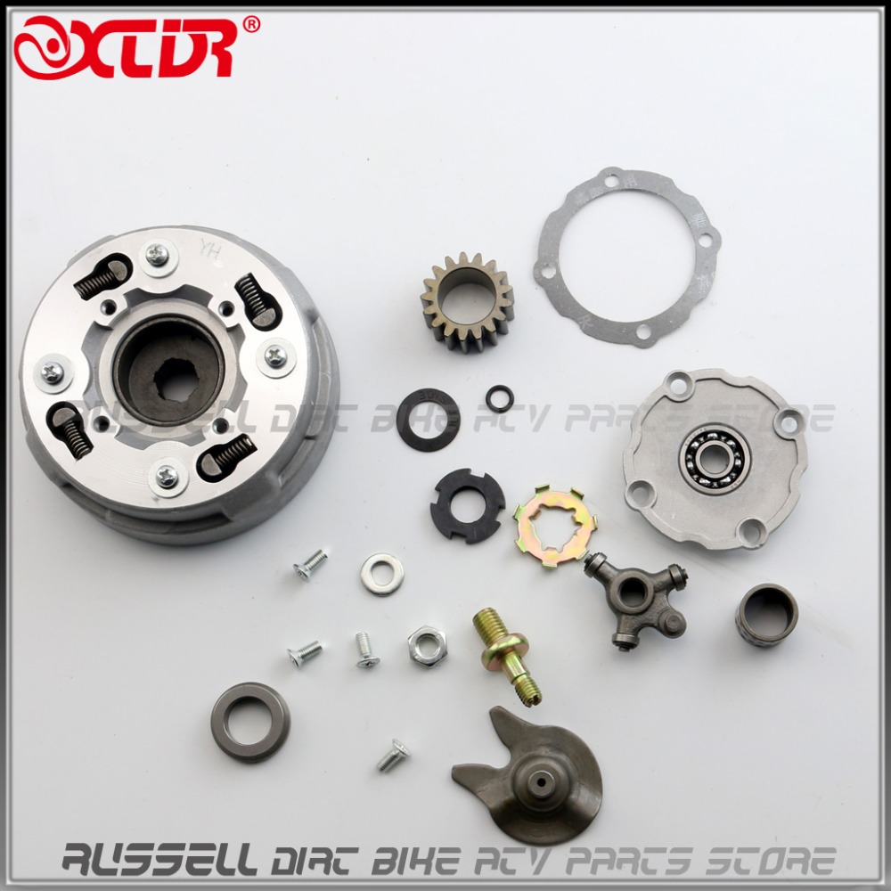 US $0 99 |Complete ASSEMBLY QUAD 110 AUTO CLUTCH SEMI AUTOMATIC 17T 17  TEETH ONLY 110cc 125cc CHINESE ATV XR Z50 CT70 CRF50 TRX 50 70 on