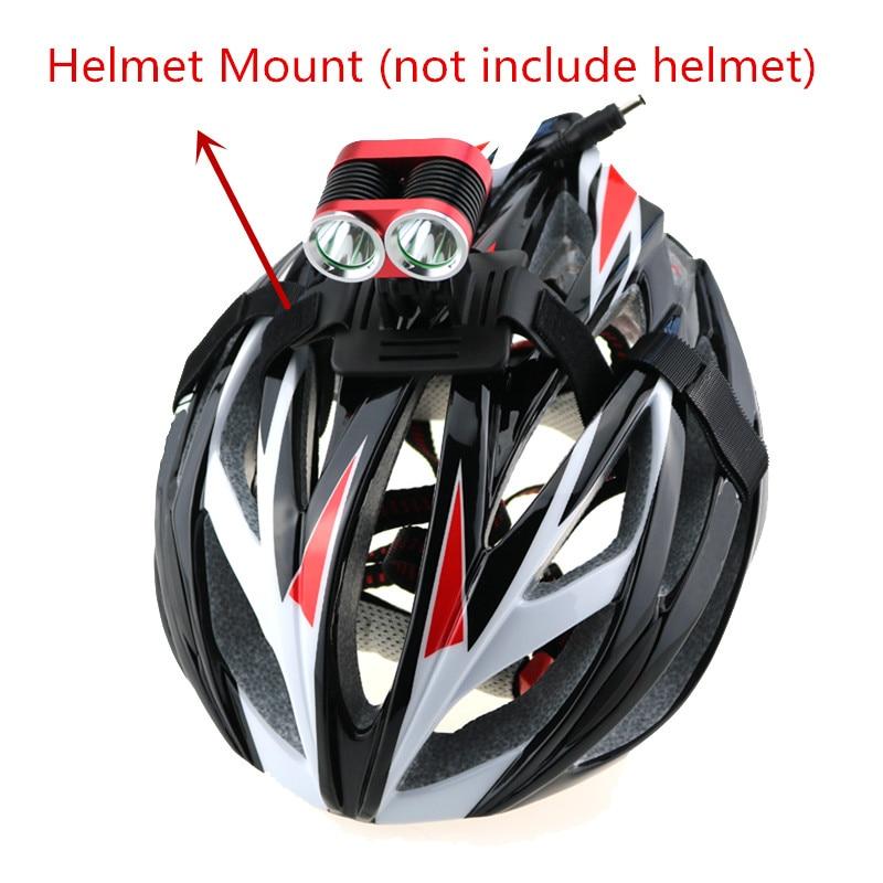 Mountain Bicycle bicicleta Light 2400 Lumen 2x CREE XM-L T6 LED Bike Cycling Headlamp + 18650 Battery Pack + Helmet Mount