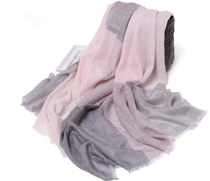 100%goat cashmere patchwork color bright striped women