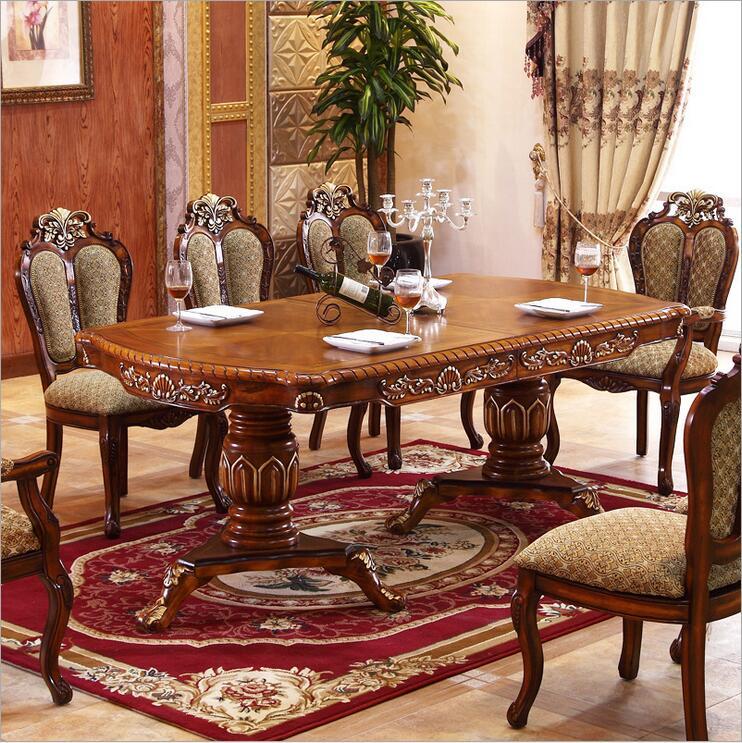 Estilo moderno Mesa De Jantar Italiano, 100% Estilo de Luxo Mesa de Jantar De Madeira Maciça Itália o1092