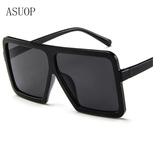 Asuop 2019 Large Frame Retro Classic Female Sunglasses Fashion Men S