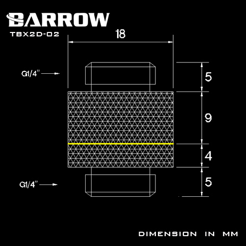 Купить с кэшбэком BARROW G1/4 Male to Male Rotary Connectors / Extender 13mm M to M Fitting Computer Accessories Metal Fittings