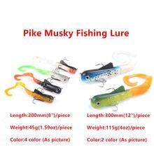 Мягкая рыболовная приманка 6 шт/лот щука мускусный дог для заброды