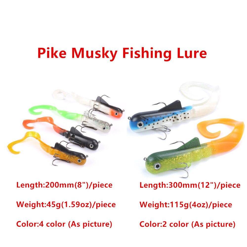 6pcs/lot Pike Musky Dawg Fishing Soft Bait Lure Zabder Freshwater Curly Shad Bull Coarse Bulldog Fishing Tackle Leurre Souple